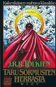 Suomenkielisen yksissä kansissa olevan Tarun sormusten herrasta alkuperäinen kansikuva
