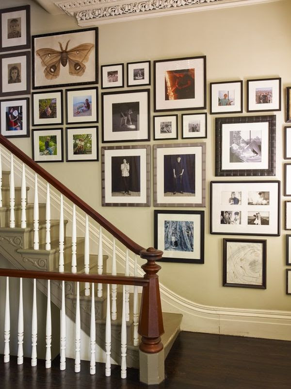 stairway gallery wall by Ilevel inc