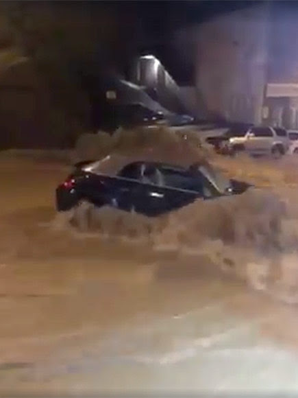 Dramatic Video Shows People Forming a Human Chain to Save a Woman During Deadly Maryland Floods| Death, Natural Disasters