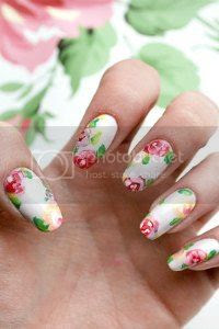 laura ashley nail art, tutorial, easy nails, nail art blog