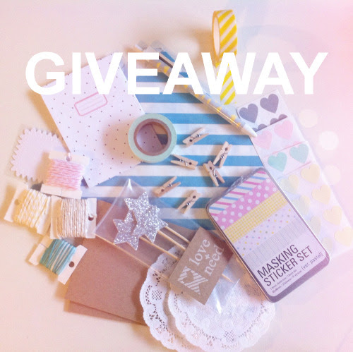 I♥giveaways! And I♥stationery and packaging…so today we are going to be having a giveaway that includes a bunch of stationery and packaging GOODIES! Everything in the picture you will win as a prize pack. And since we will be giving away 2 sets,there will be 2 winners YAY!  Each prize pack includes: Bakers Twine (5 ft./ color) x 4Washi Tape x 2Masking Sticker Set (27 sheets of assorted patterned deco stickers in a tin)French paper Doilies x 2Square Kraft Envelopes x 2 Glitter Star Cake Toppers (exclusive)Blue Striped Treat Bags x 2Heart Stickers x 4 setsSmall Clothes Pins x 6Liveworks Pen Polka Dot Envelope (exclusive) Contest closes March 31, 2013. You have more than one chance to win by getting multiple entries. Good Luck! Love + Need Giveaway