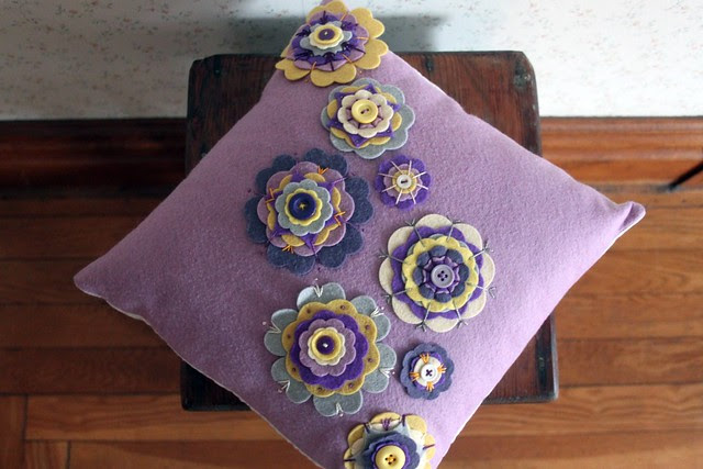 Purple Flower Pillow