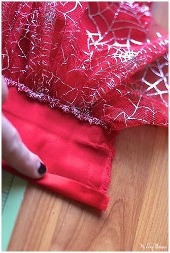 MWM Red 2 tier Halloween Skirt Oct 2012 17