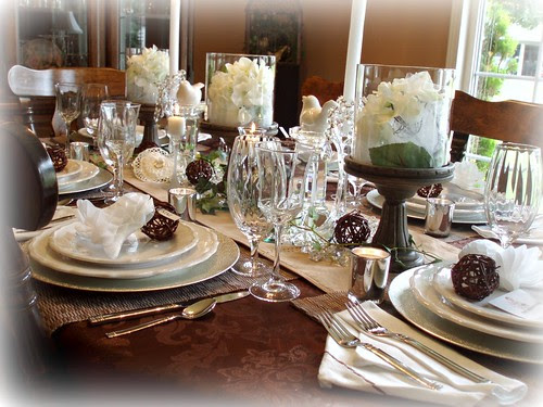 Dining Delight Rustic Bridal Shower Tablescape