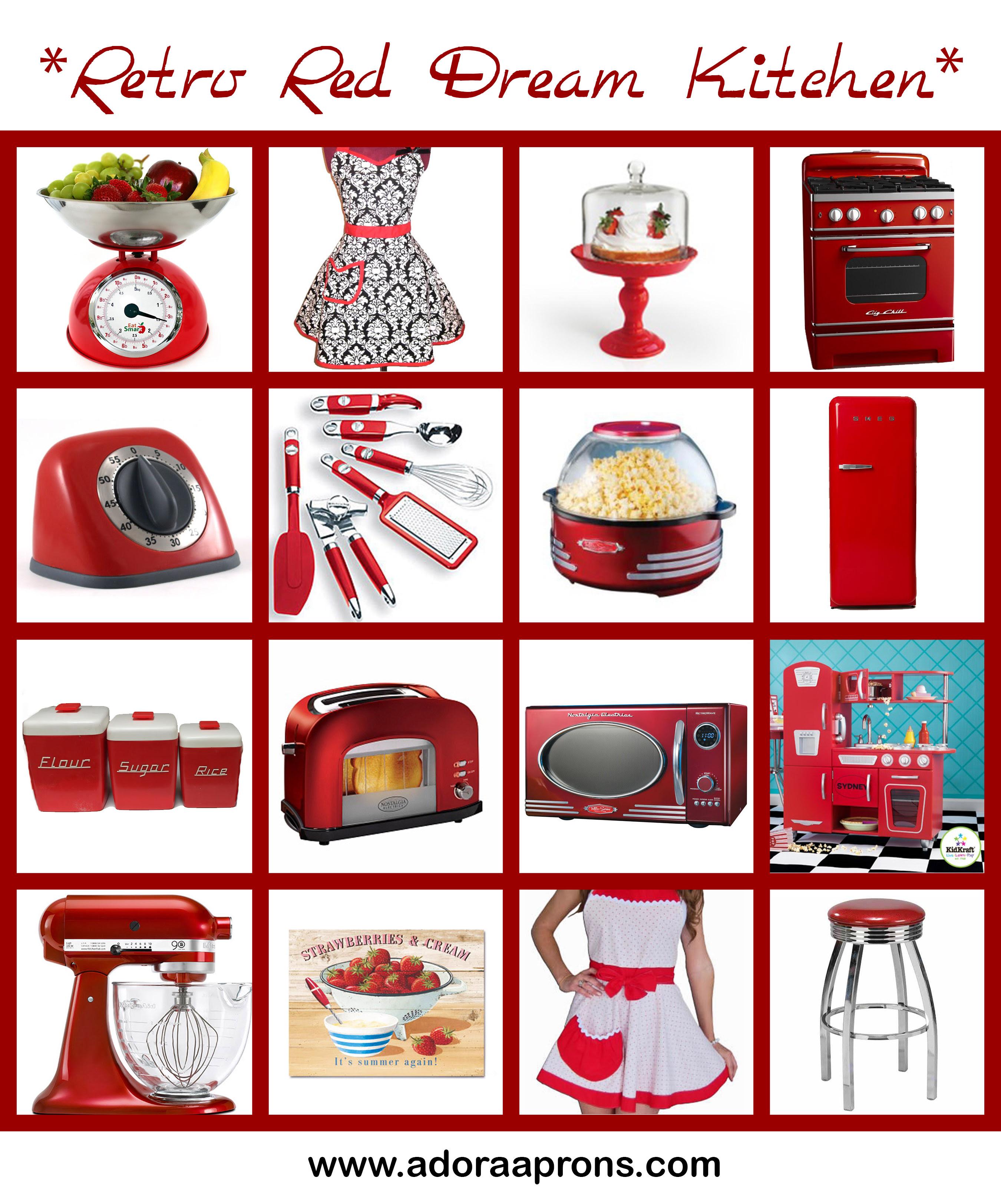 Red Kitchen Accessories Retro Dream Adora As Blog