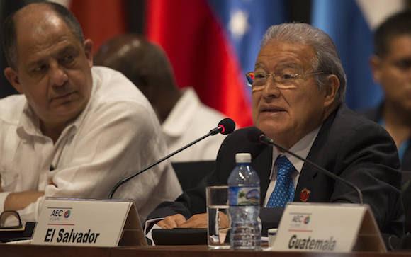 Salvador Sánchez Cerén interviene en la VII Cumbre de la Asociación de Estados del Caribe. Foto: Ismael Francisco/ Cubadebate