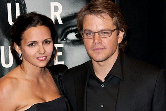 Matt Damon e Luciana Bozán Barroso
