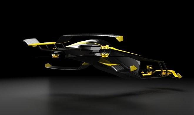Французская компания MACA разрабатывает летающий гоночный болид