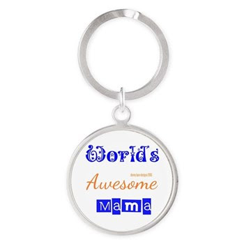 World's Awesome Mama Round Keychains