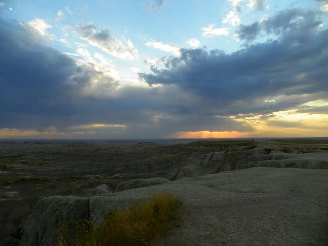 Sunset on Badlands