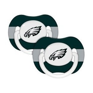Philadelphia Eagles Pacifiers 2 Pack