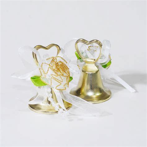 ifavor123.com: 24pcs Gold heart Shaped wedding bells