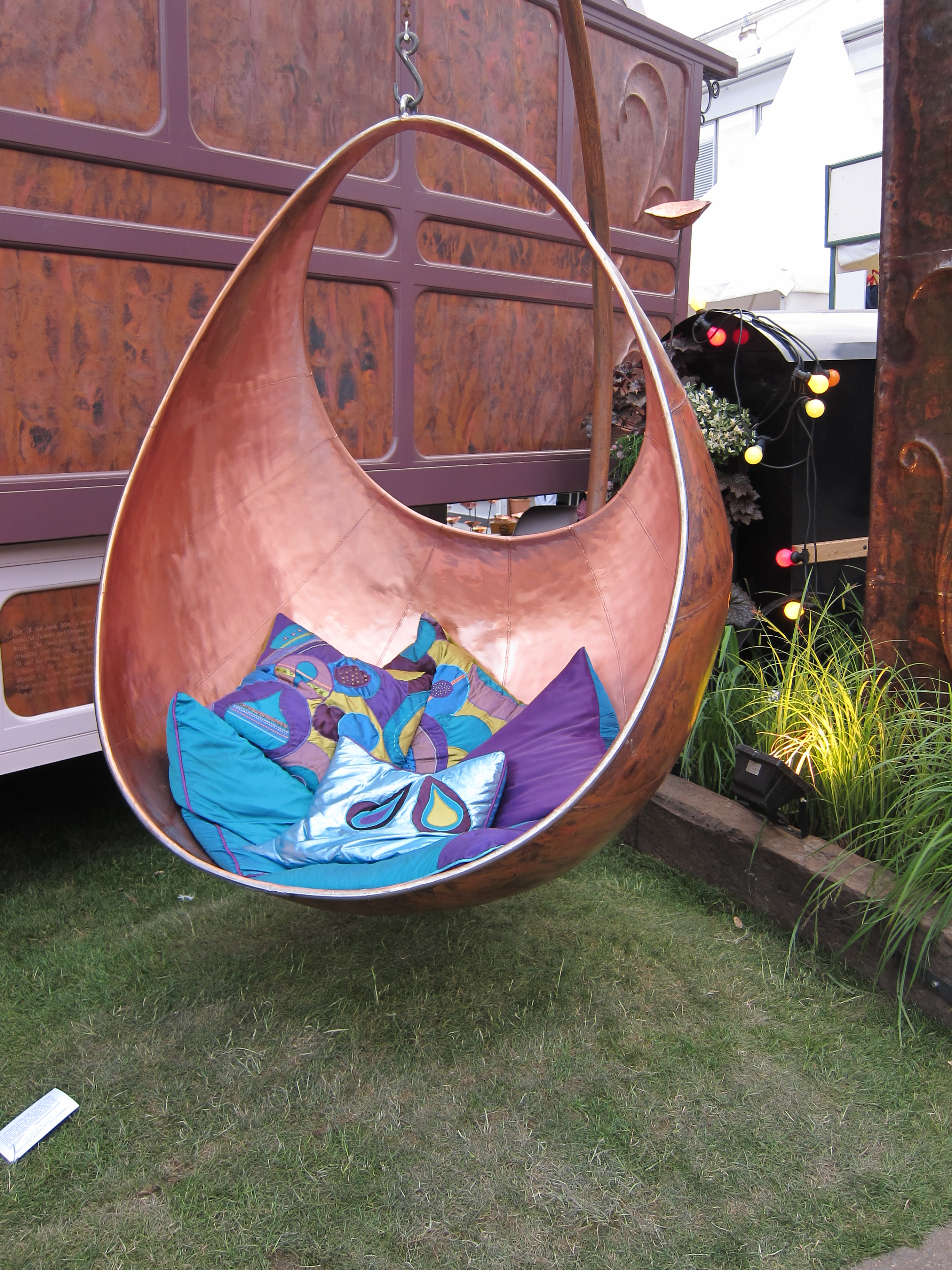 Garden art accessories, hanging chairs and living walls at RHS ...