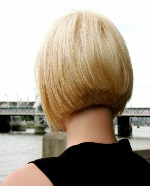 Stacked Bob Hairstyles Are Short Layered Hair From The Back Of The