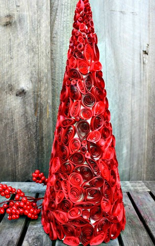 Quilled Cone Tree