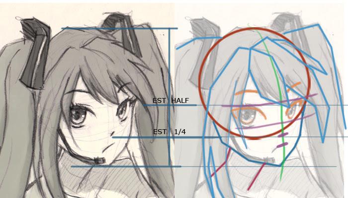 Vocaloid Miku drawing tutorial