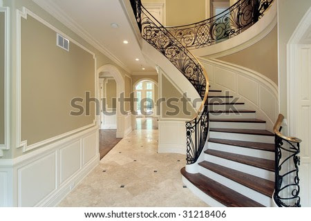 Foyer With Circular Staircase Stock Photo 31218406 : Shutterstock