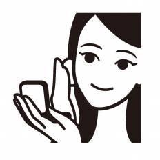 化粧シルエット イラストの無料ダウンロードサイトシルエットac