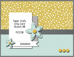 Paper Craft Crew Card Sketch 111. #papercraftcrew #stampinup #cardsketch