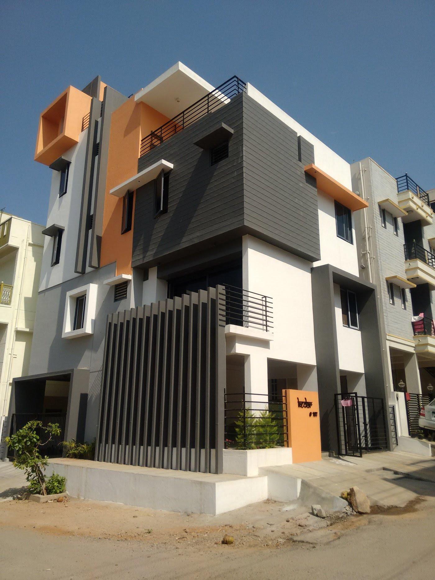 3BHK House  Architects In Bangalore  by Ashwin Architects