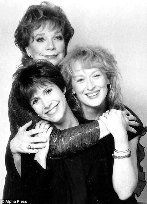 Her book was adapted into a 1990 movie starring Shirley MacLaine and Meryl Streep (pictured above with Fisher)