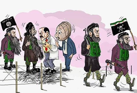 En Syrie: faux modérés, vrais takfiristes.