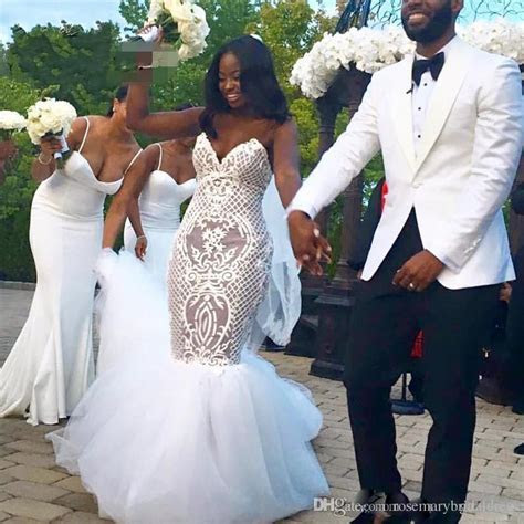 Black Girl Mermaid Wedding Dresses Sweetheart Stunning