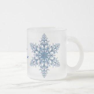 Blue Snowflake Mug