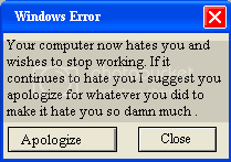 Windows Error Funny