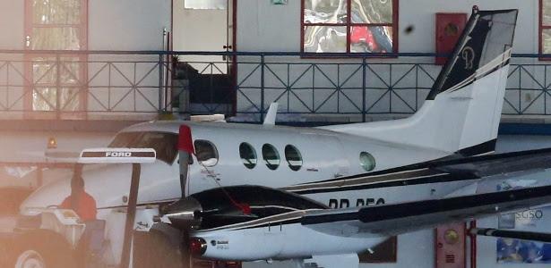 Avião prefixo PR-PEG, de propriedade do empresário Benedito Rodrigues de Oliveira Neto, o Bené, dono da Gráfica Brasil, que foi apreendido pela PF em hangar de Brasília