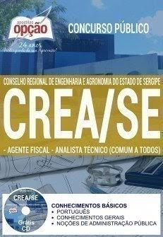 Apostila CREA Sergipe (SE) Agente Fiscal - Analista Técnico