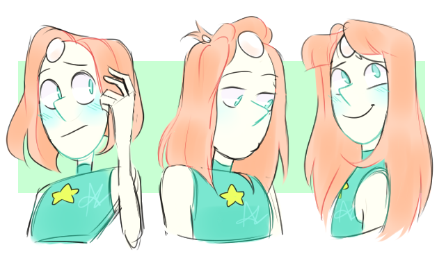 some quick pearls with varied hair lengths/styles
