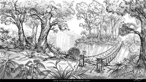 jungle sketch  chuaenghan  deviantart