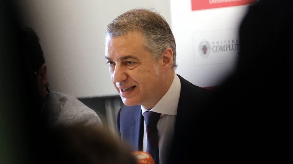 El lehendakari, Iñigo Urkullu, en una imagen de archivo.