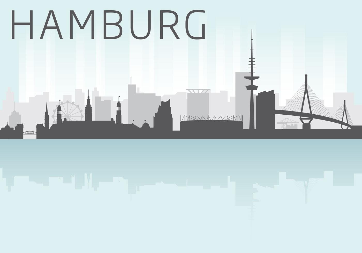 hamburg skyline vector