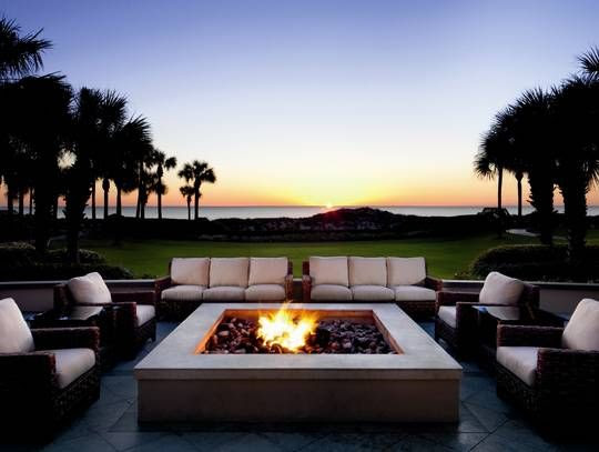 Sneak peek: AAA's Five Diamond hotels for 2013  A seating area with an outdoor firepit at the Ritz-Carlton, Amelia Island, in Florida.