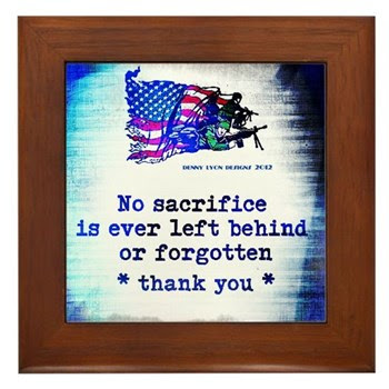 Military Sacrifice Framed Tile