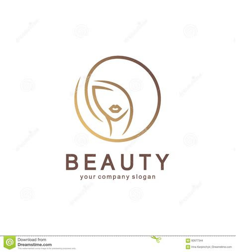 vector beauty logo  label design hand drawn
