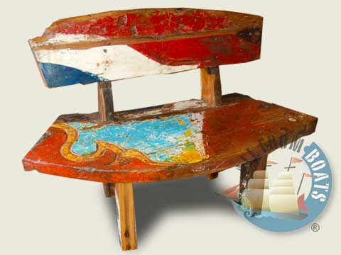 recycled boatwood furniture butterfly chair