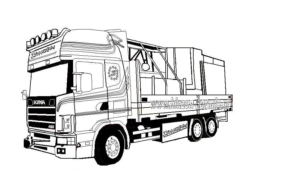 mewarna09 kleurplaat vrachtwagen mack