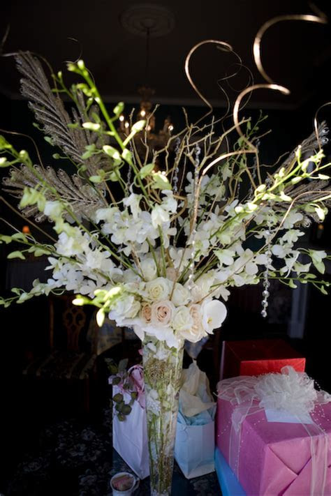 centerpieces & event design: Dendrobium Orchid, Rose, and