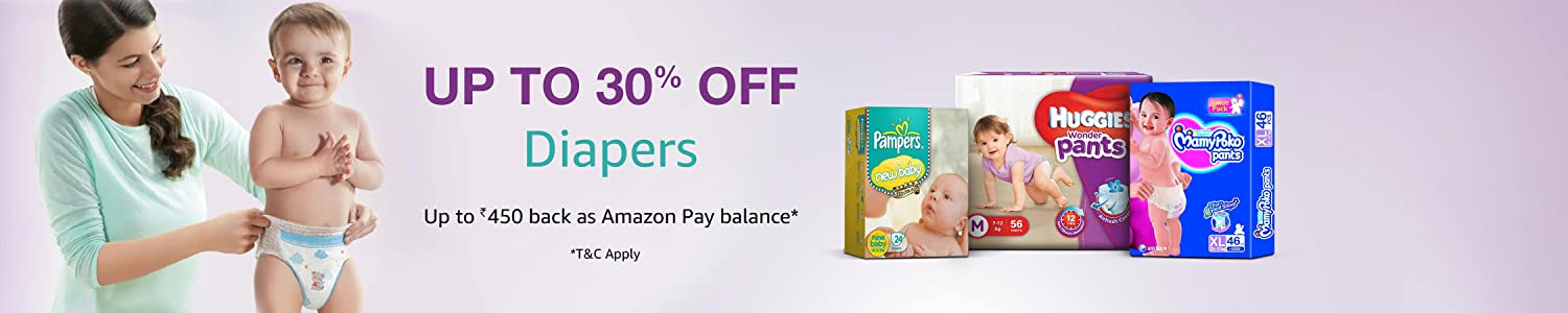 Up to 30% off: Diapers