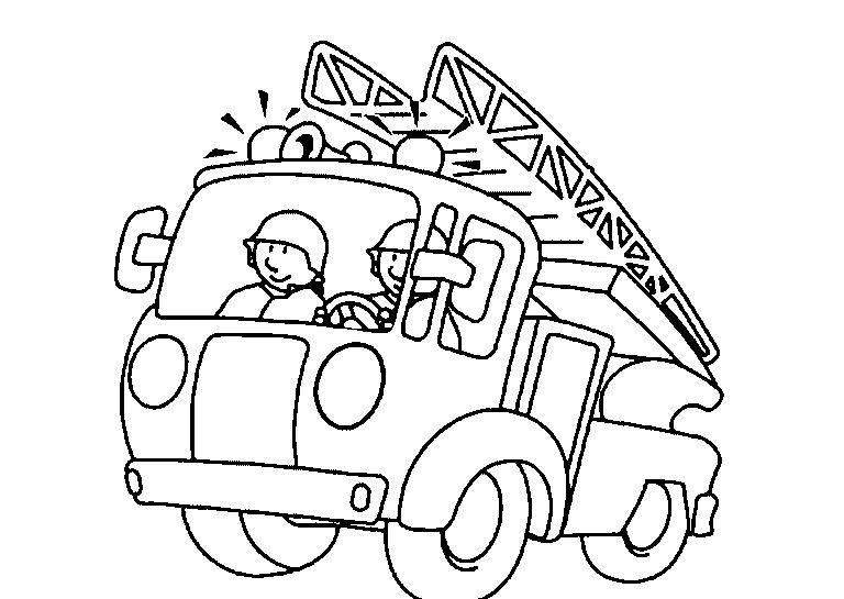 Camión De Bomberos Para Colorear