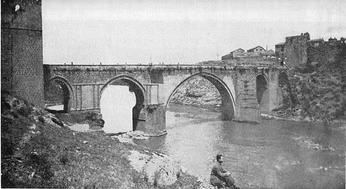 Puente de San Martín de Toledo a principios del siglo XX