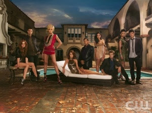 Cast Pictured: (l-r) Ashlee Simpson-Wentz as Violet, Colin Egglesfield as Auggie, Katie Cassidy as Ella, Laura Leighton as Sydney, Thomas Calabro as Dr. Michael Mancini, Stephanie Jacobsen as Lauren, Shaun Sipos as David, Jessica Lucas as Riley, Michael Rady as Jonah. Photo Credit: Frank Ockenfels/The CW