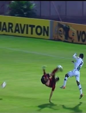 Rafael Martins, Oeste, Ceará, queda  (Foto: Reprodução / Premiere FC)