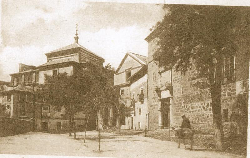 Plaza del Conde y  Palacio de Fuensalida a comienzos del siglo XX