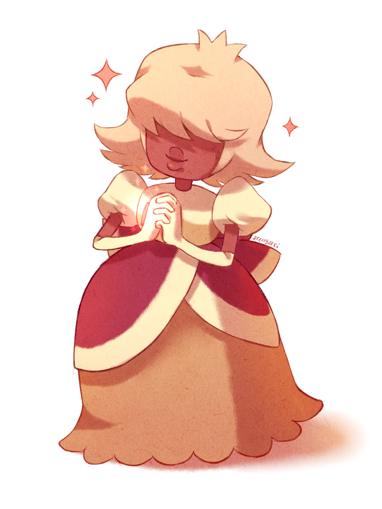 Padparadscha is so sweet, she looks like a pastry