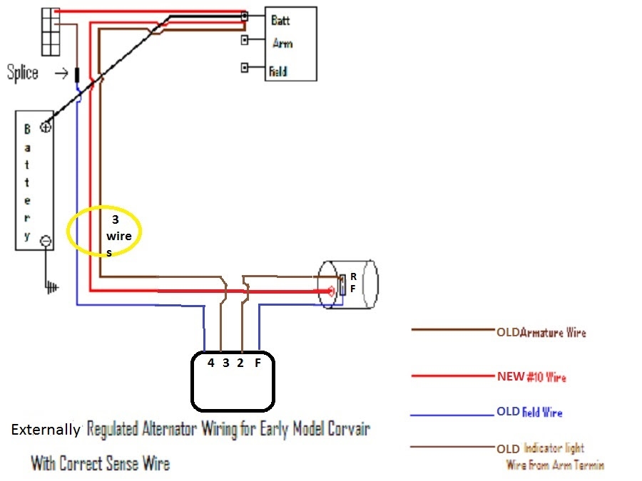 Externally Regulated Alternator Wiring Diagram