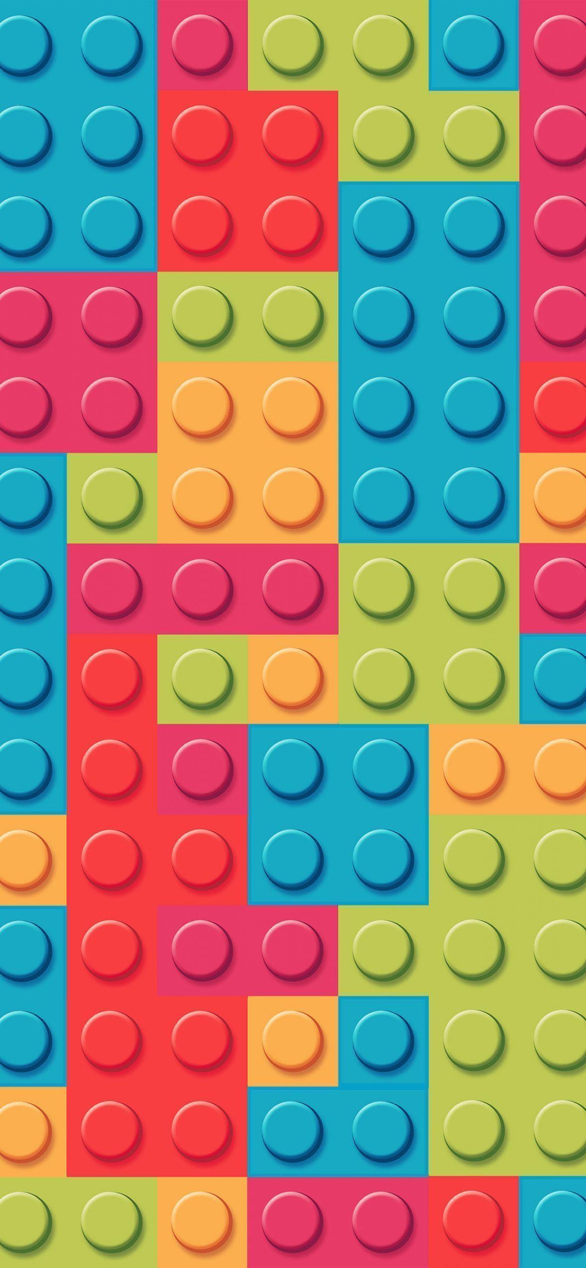 レゴブロックレインボーアートパターンパステルiphone Xs Max